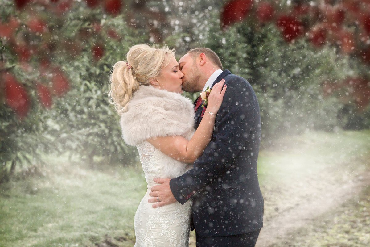 Winter wedding Northside Farm Diane Makepeace Photography