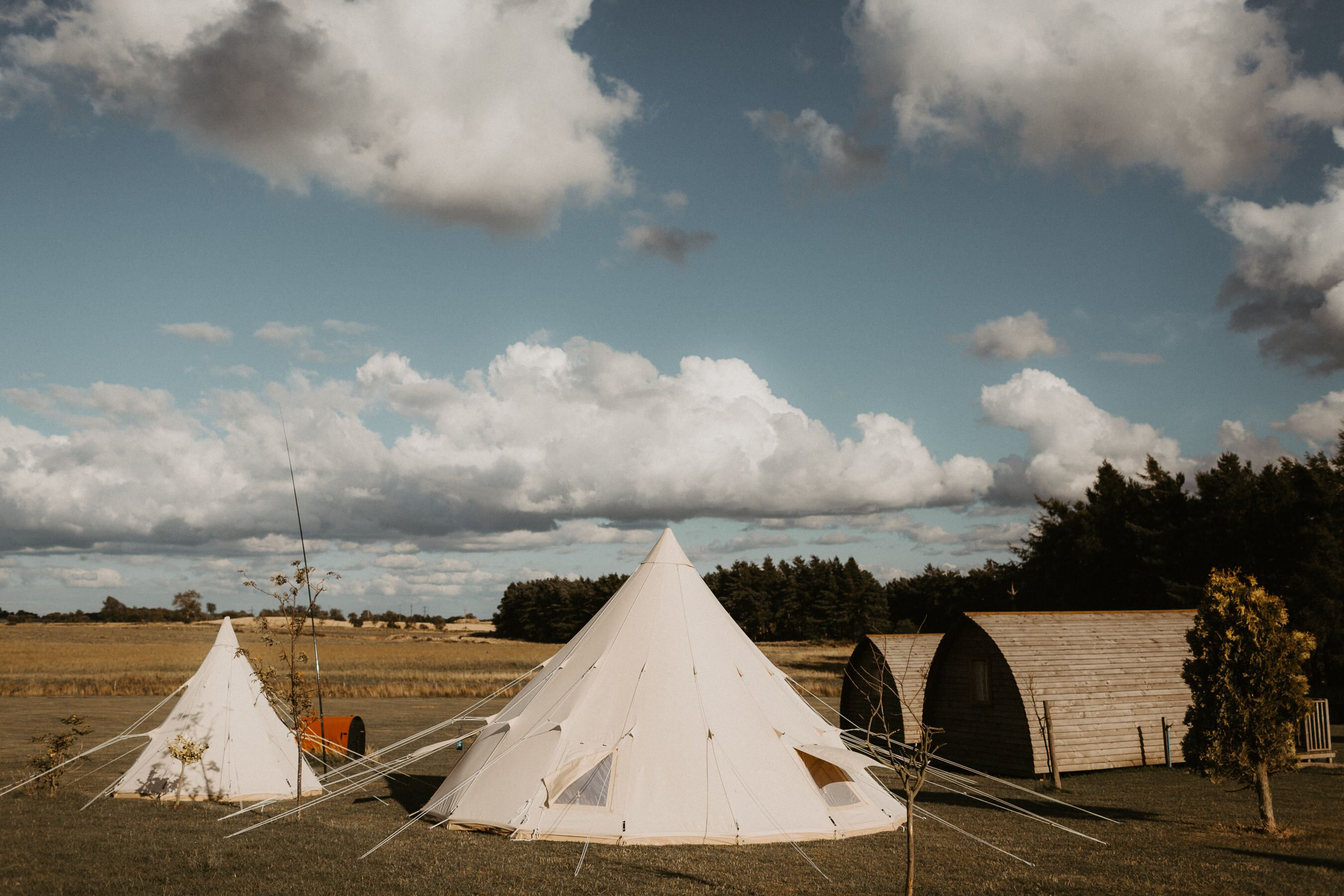 glamping wedding northern star teepees northside farm northumberland