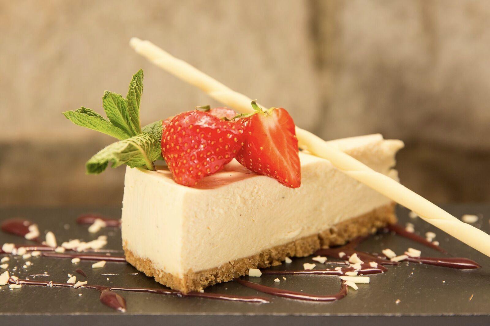 vanilla pod cheesecake