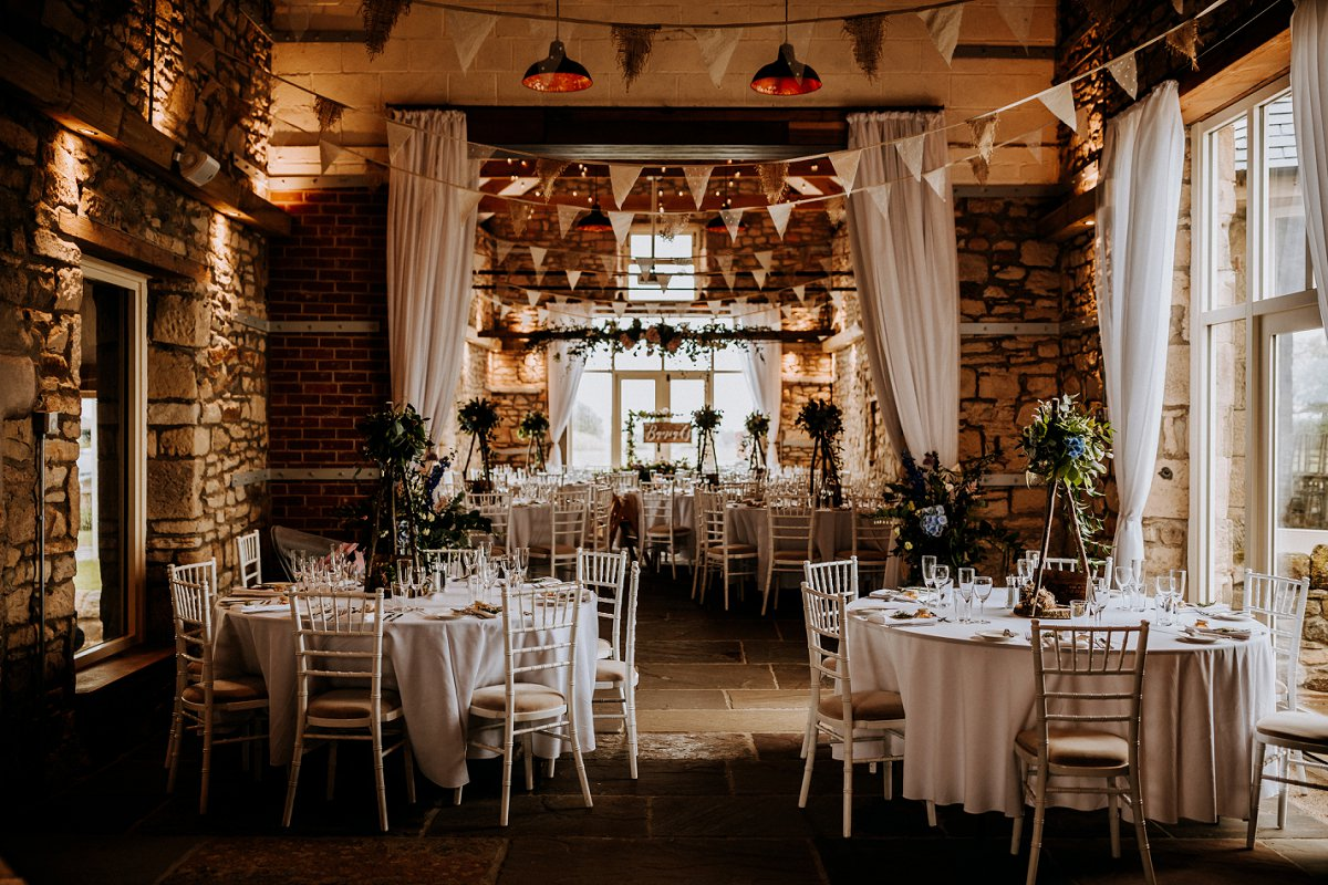wedding breakfast barn wedding venue northumberland