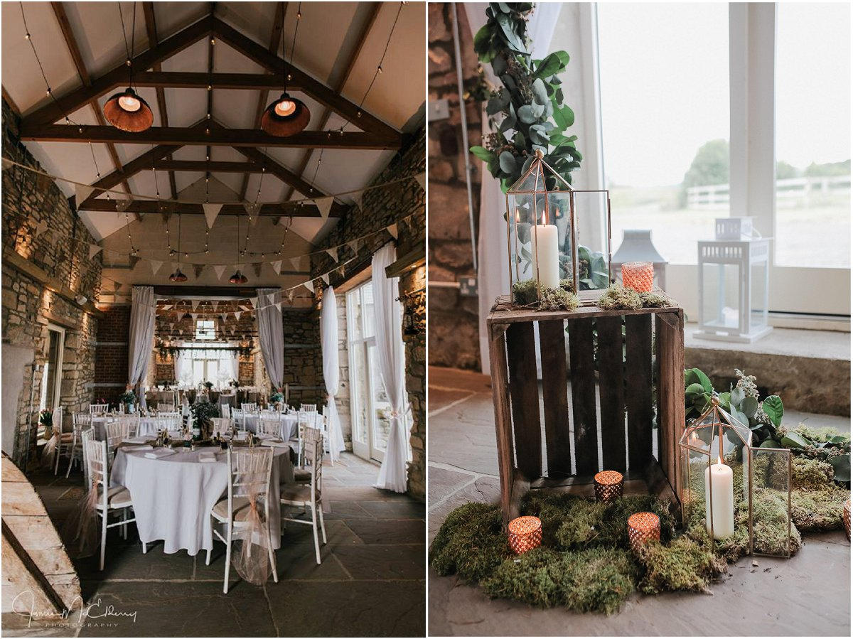 rustic elegant decor barn wedding venue in northumberland